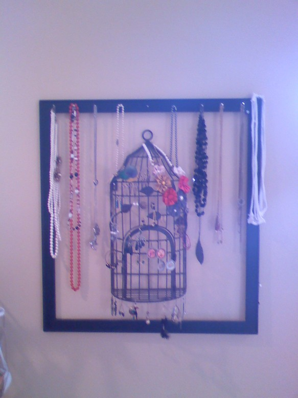 bird cage jewelry holder